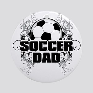 Soccer Dad (cross) copy Round Ornament