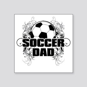 "Soccer Dad (cross) copy Square Sticker 3"" x 3"""