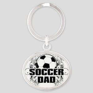 Soccer Dad (cross) copy Oval Keychain