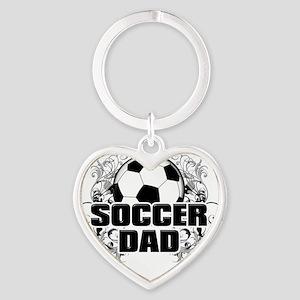 Soccer Dad (cross) copy Heart Keychain