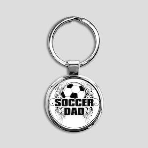 Soccer Dad (cross) copy Round Keychain