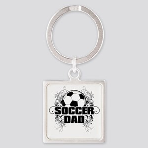 Soccer Dad (cross) copy Square Keychain
