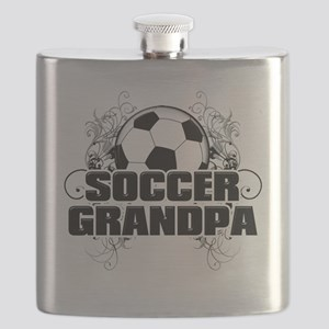 Soccer Grandpa (cross) Flask