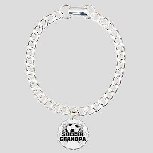 Soccer Grandpa (cross) Charm Bracelet, One Charm