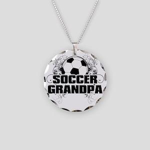 Soccer Grandpa (cross) Necklace Circle Charm