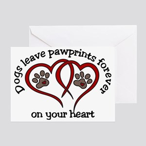 Pawprints Greeting Card