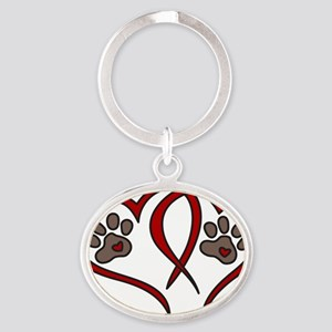Puppy Love Oval Keychain