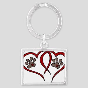 Puppy Love Landscape Keychain