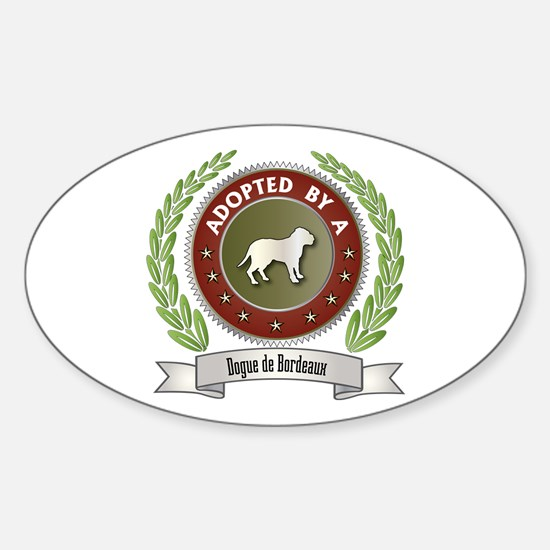 Dogue Adopted Oval Decal