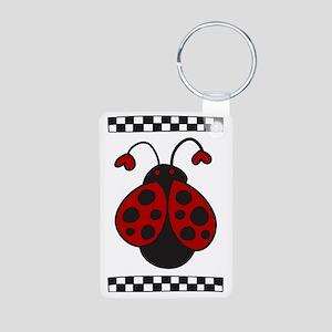 Ladybug Bug Aluminum Photo Keychain