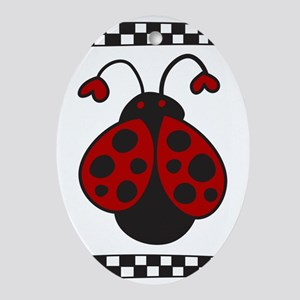 Ladybug Bug Oval Ornament