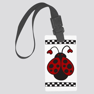 Ladybug Bug Large Luggage Tag