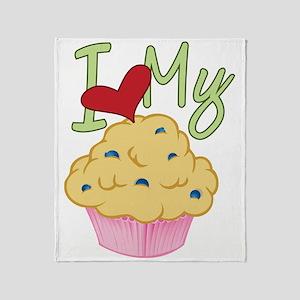 Love Muffin Throw Blanket