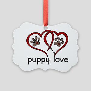 Puppy Love Picture Ornament