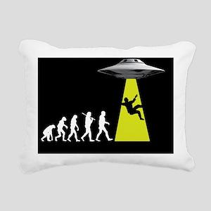 UFOvolution Rectangular Canvas Pillow