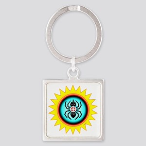 SOUTHEAST INDIAN WATER SPIDER Square Keychain