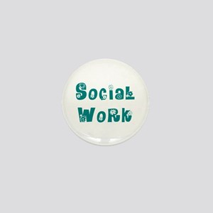 Social Work Floral Mini Button