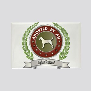 Foxhound Adopted Rectangle Magnet