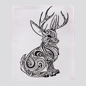 Jackalope Throw Blanket