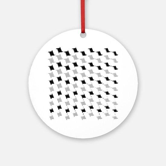 fashion patterns Round Ornament