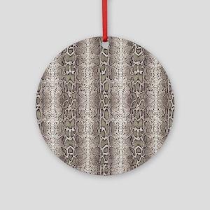 animal snakeskin Round Ornament