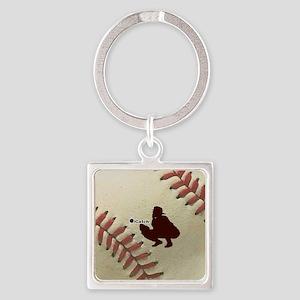iCatch Baseball Square Keychain