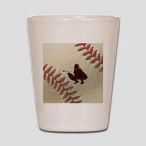 iCatch Baseball Shot Glass