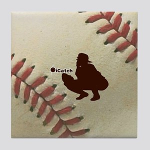 iCatch Baseball Tile Coaster
