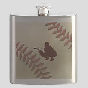 iCatch Baseball Flask