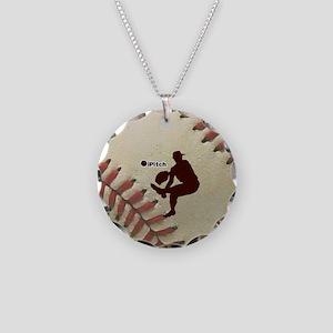 iPitch Baseball Necklace Circle Charm