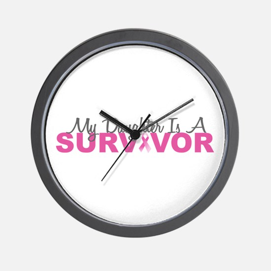 My Daughter Is A Survivor Wall Clock