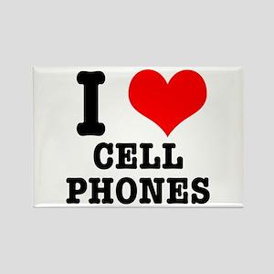 I Heart (Love) Cell Phones Rectangle Magnet