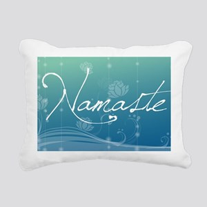 Namaste Laptop Skins Rectangular Canvas Pillow