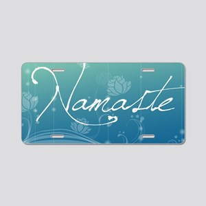 Namaste Laptop Skins Aluminum License Plate