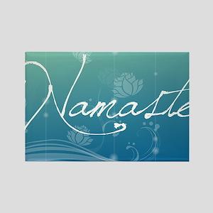 Namaste Laptop Skins Rectangle Magnet