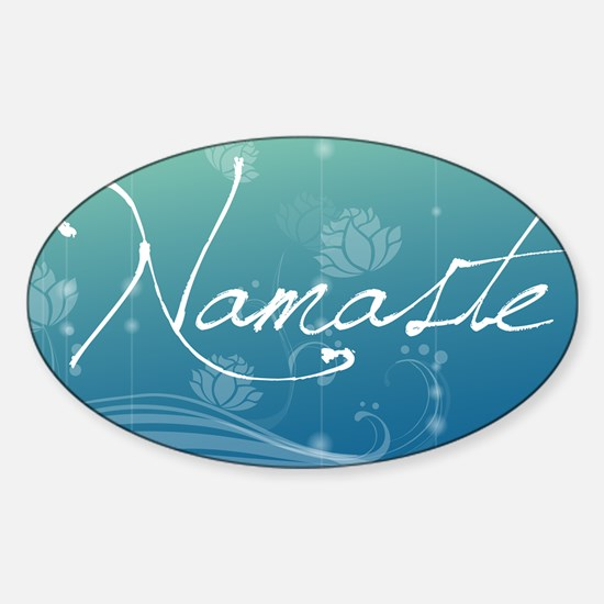 Namaste Laptop Skins Sticker (Oval)