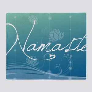Namaste Laptop Skins Throw Blanket