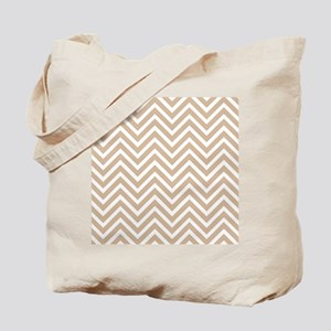 tan chevron Tote Bag