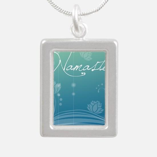 Namaste iPad 2 Hard Case Silver Portrait Necklace