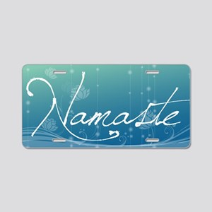 Namaste Velcro Beer Cooler Aluminum License Plate