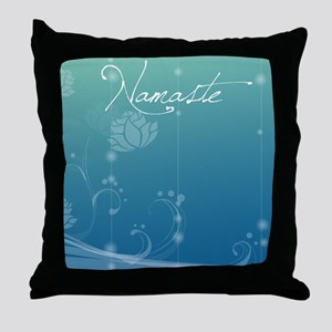 Namaste Picture Frame Throw Pillow