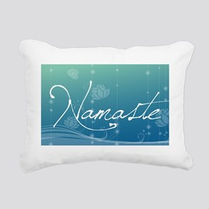 Namaste Car Flag Rectangular Canvas Pillow