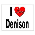 I Love Denison Small Poster