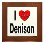I Love Denison Framed Tile
