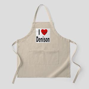 I Love Denison BBQ Apron