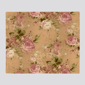 pink roses Throw Blanket