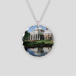 Monticello Necklace Circle Charm