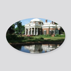 Monticello Oval Car Magnet