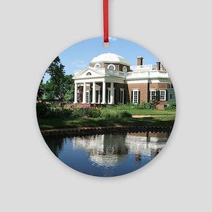 Monticello Round Ornament