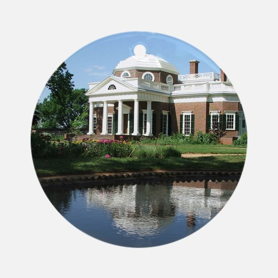 Monticello Round Ornament